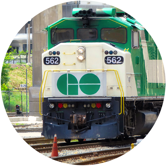 go train in Barrie, ontario